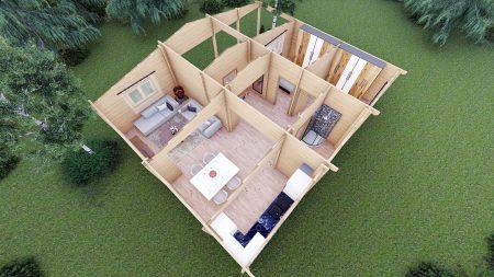 Two Bed Log Cabin Jennifer For Sale Ireland Quality Log Cabins