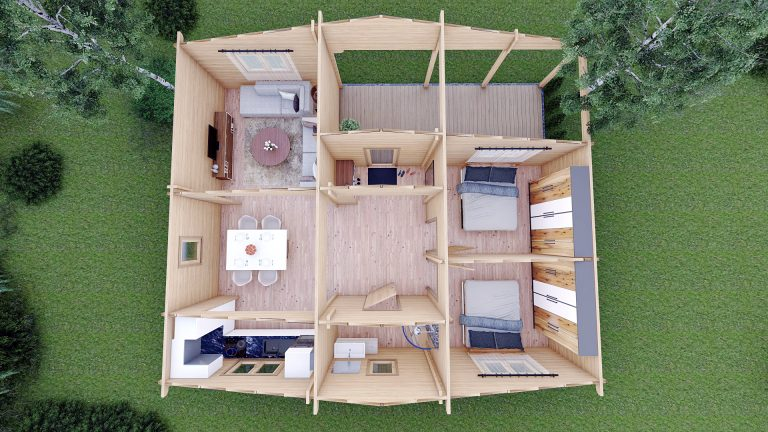 Two Bed Log Cabin Jennifer For Sale Ireland Scandinavian Timber