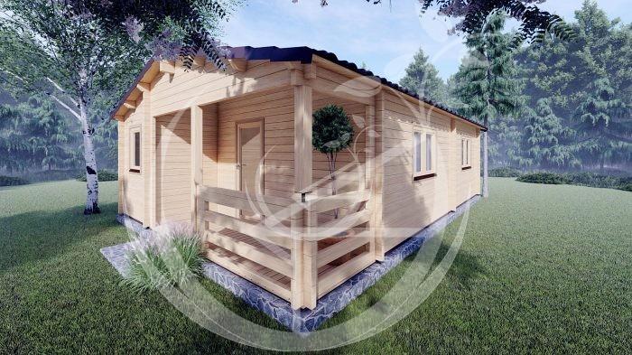 Wo Bed Log Cabin Almeria 6m X 8.87m 03