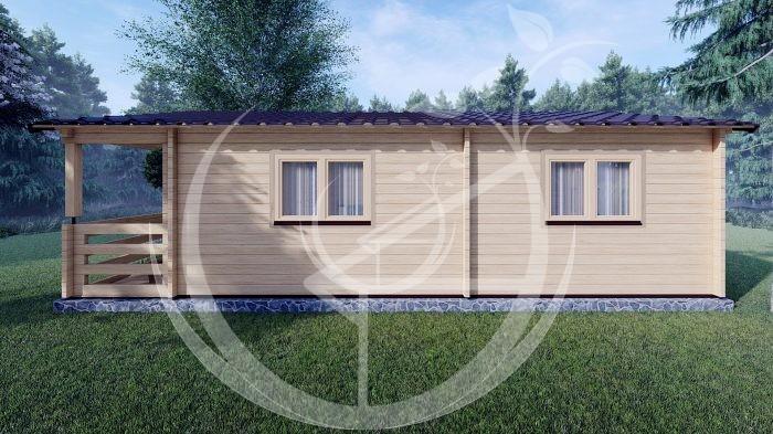 Wo Bed Log Cabin Almeria 6m X 8.87m 04