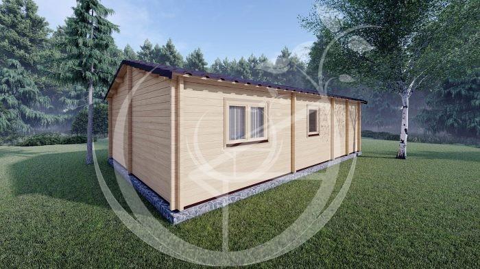 Wo Bed Log Cabin Almeria 6m X 8.87m 05
