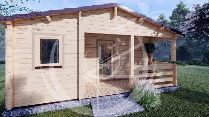 Wo Bed Log Cabin Almeria 6m X 8.87m 06
