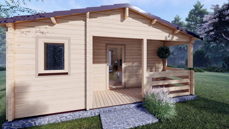 Wo Bed Log Cabin Almeria 6m X 8.87m 06