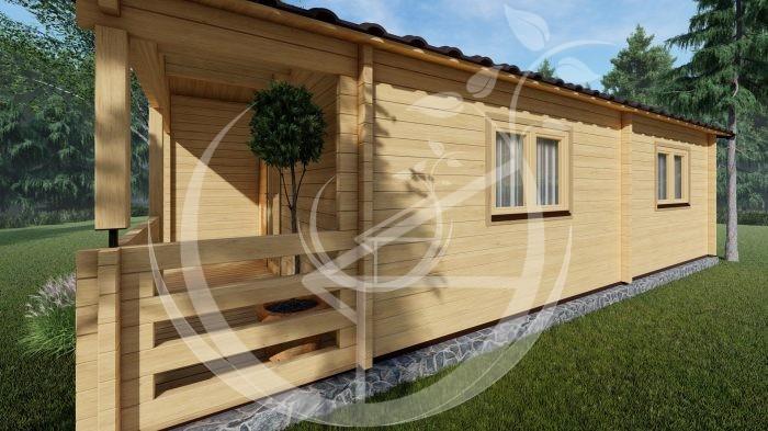 Wo Bed Log Cabin Almeria 6m X 8.87m 07