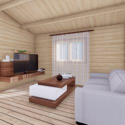 Wo Bed Log Cabin Almeria 6m X 8.87m 08