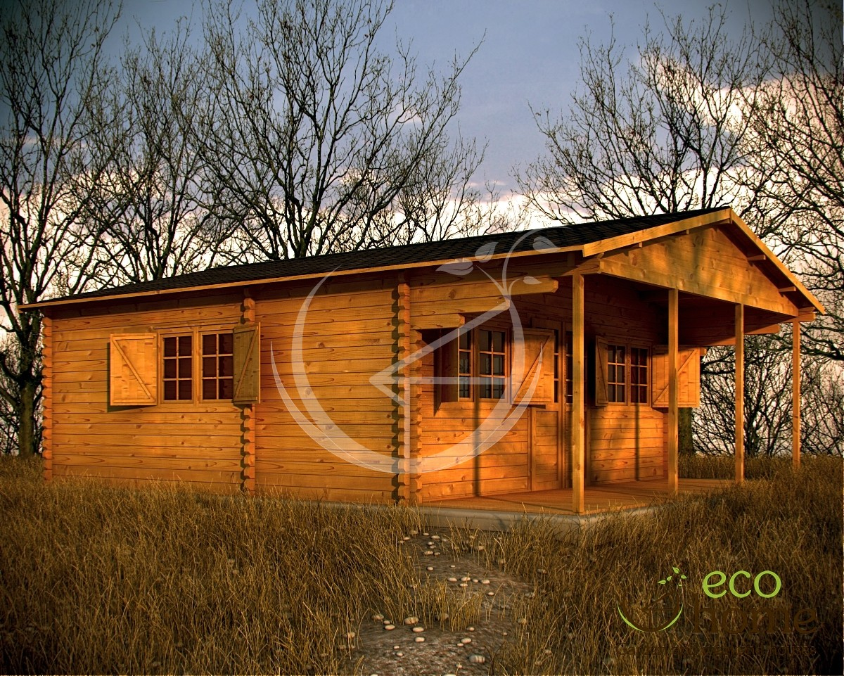 Eco One Room Log Cabin Det 6m X Log Cabins Ireland