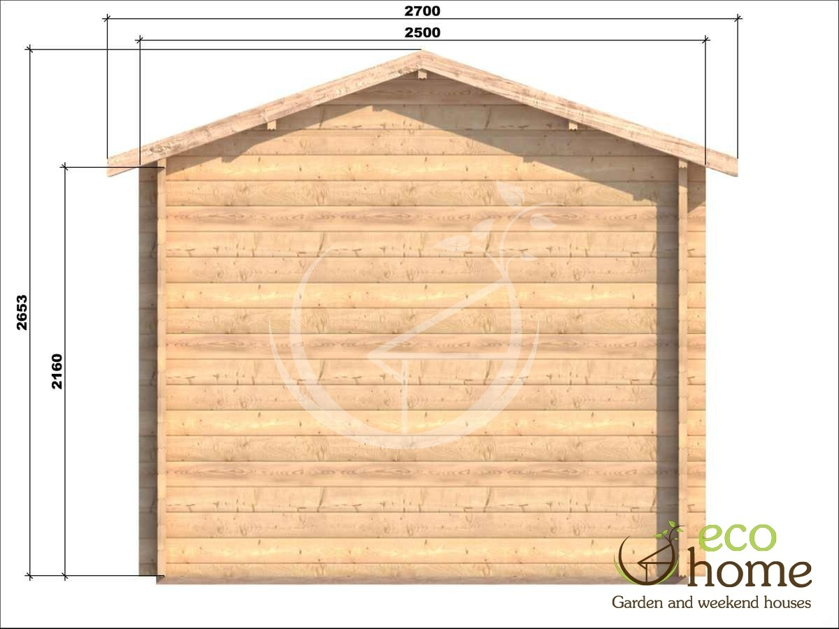Eco Home Name One Room Log Cabin Erna 2 5