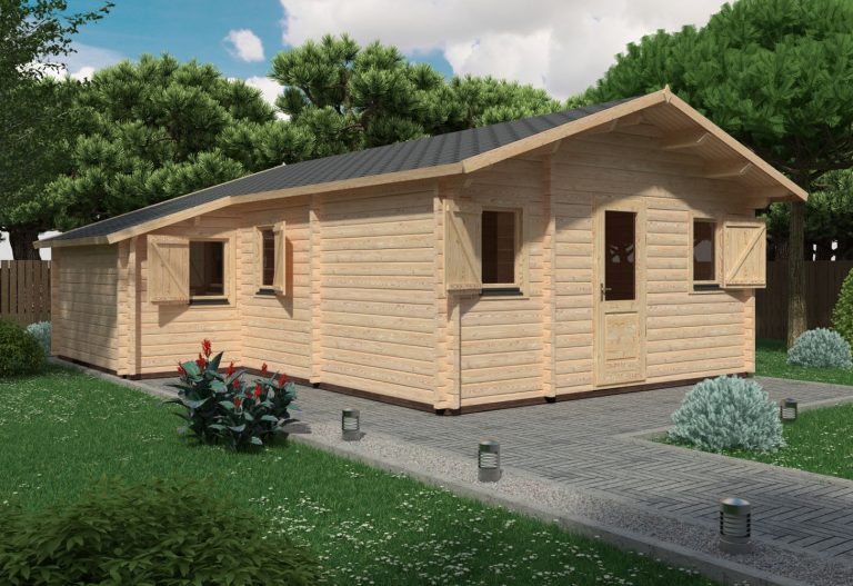 Two Bed Log Cabin Lukas 6,5x7,7