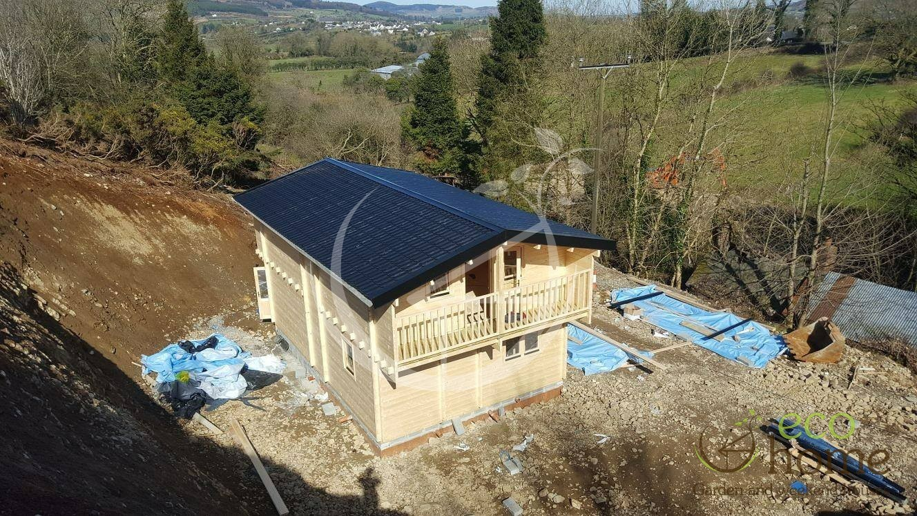 Two storey log cabin verona x log cabins ireland for 2 bed log cabins for sale