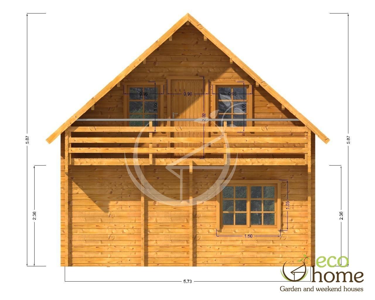 Eco home log cabins ireland name two storey log cabin for Two storey log cabin