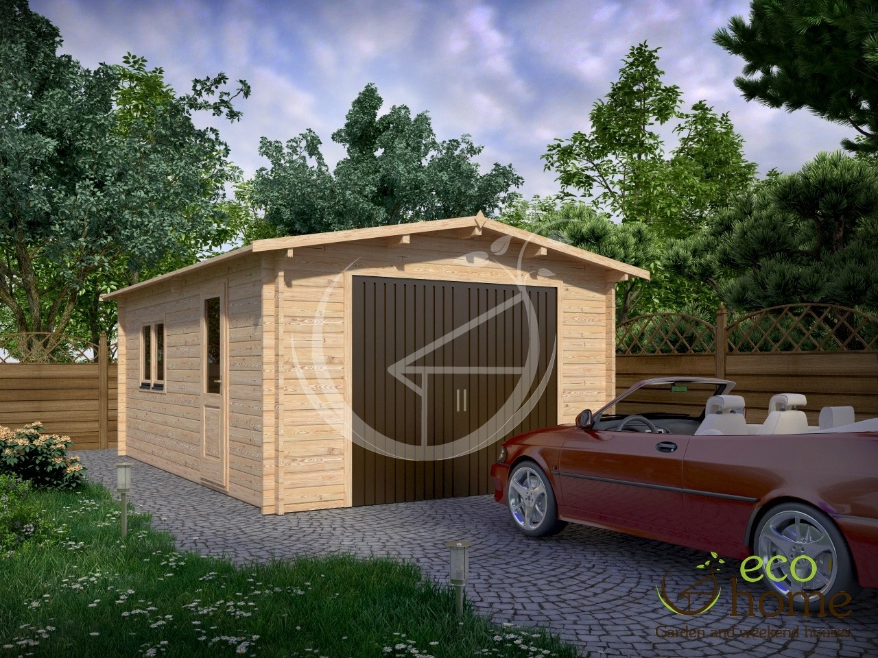 Garage 4x6m Log Cabins: garage cabins