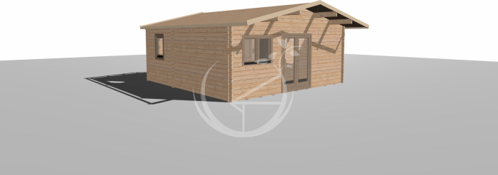 6x6m Galway Two Bed Log Cabin 4