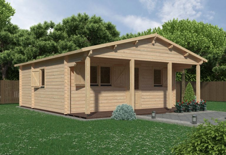 Budget Two Bed Log Cabin Louise 6x6