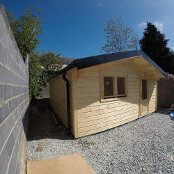 Small Garden Log Cabin Built In Ireland