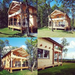 Two Storey Log House In France