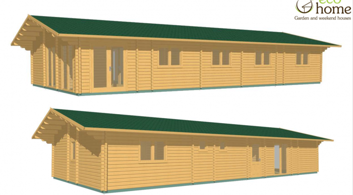 Eco 4 Bed Loghouse A 16m X 7.5m 1