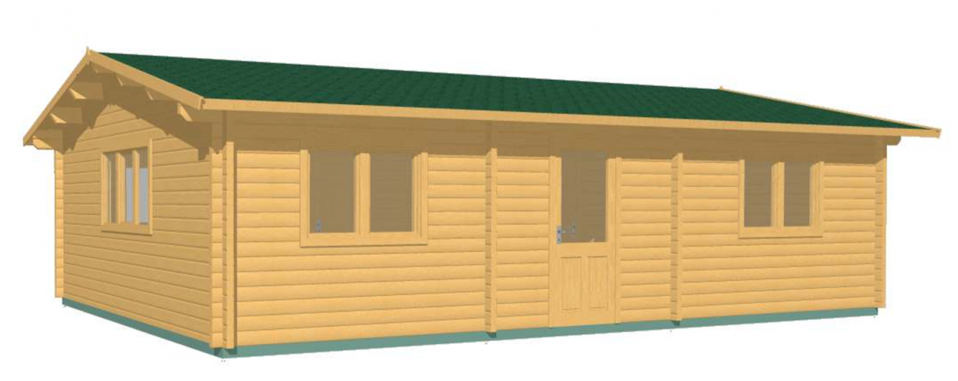 Eco 2 Bed 6m X 9m Best Selller Log Cabins Ireland