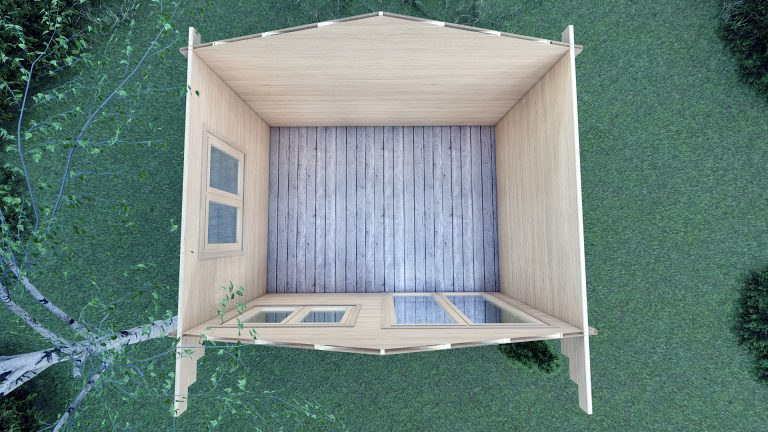 45mm Linus 4m X 3m Garden Log Cabin 3