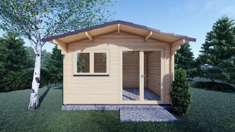 45mm Linus 4m X 3m Garden Log Cabin 4