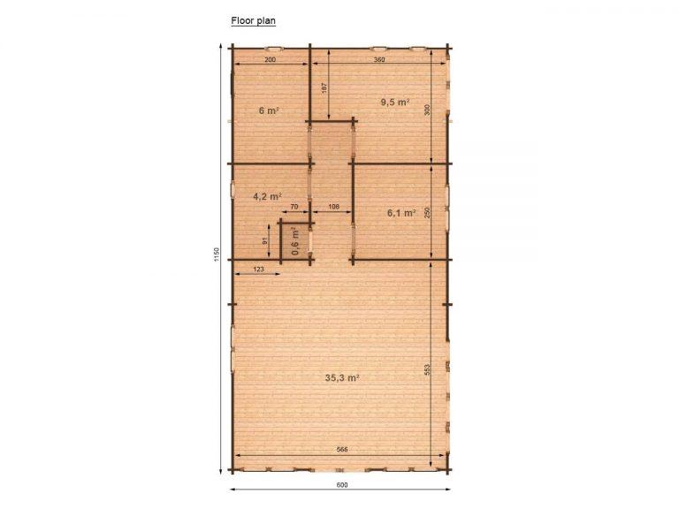 Three Bed Royal 6x11,5 Top