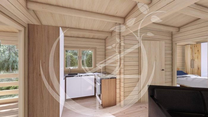 Two Bed Budget Log Cabin 5.2m X 10.2m 10