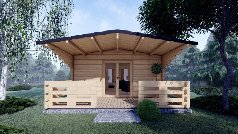 Two Bed Budget Log Cabin 5.2m X 10.2m 2