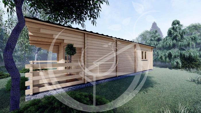 Two Bed Budget Log Cabin 5.2m X 10.2m 3