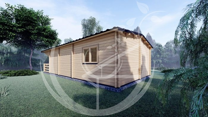Two Bed Budget Log Cabin 5.2m X 10.2m 5