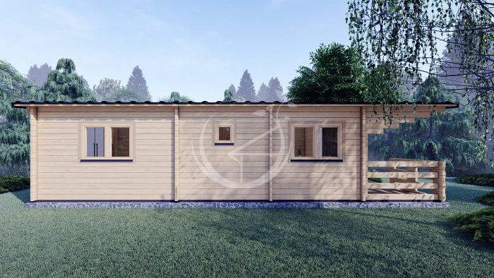 Two Bed Budget Log Cabin 5.2m X 10.2m 7