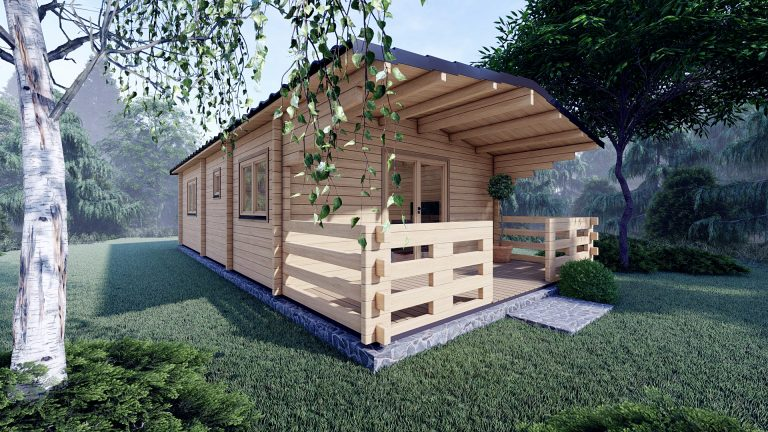 Two Bed Budget Log Cabin 5.2m X 10.2m