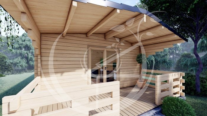 Two Bed Budget Log Cabin 5.2m X 10.2m 8