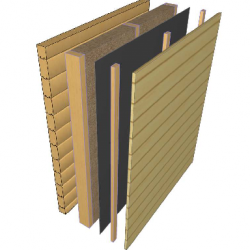 Log House Wall Insulation From Outside