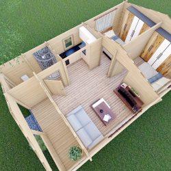 Residential Log Homes For Sale 012