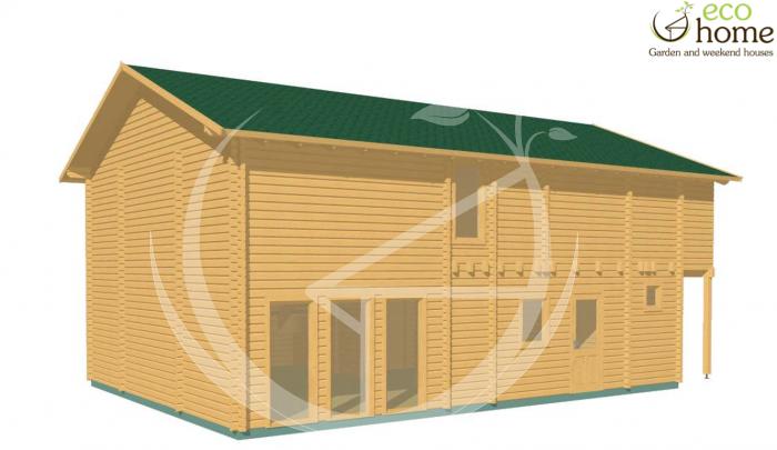 88mm glulam laminated timber loghouse