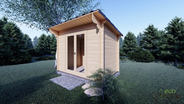 Garden Log Cabin Edith 3m X 2m Ecohome Log Cabins