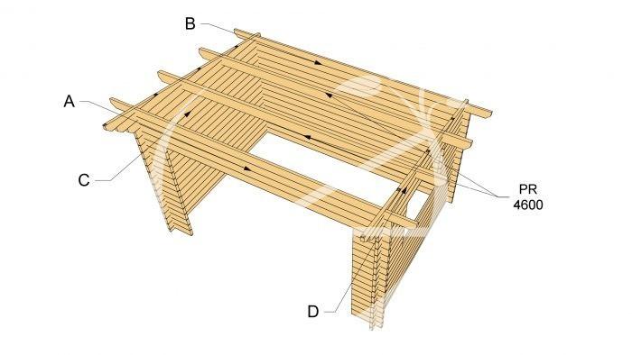 Cork 4x3m Log Cabin 2