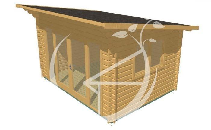 Cork 4x3m Log Cabin