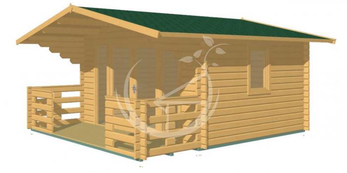 Milan Log Cabin 3.8m x 5.3m