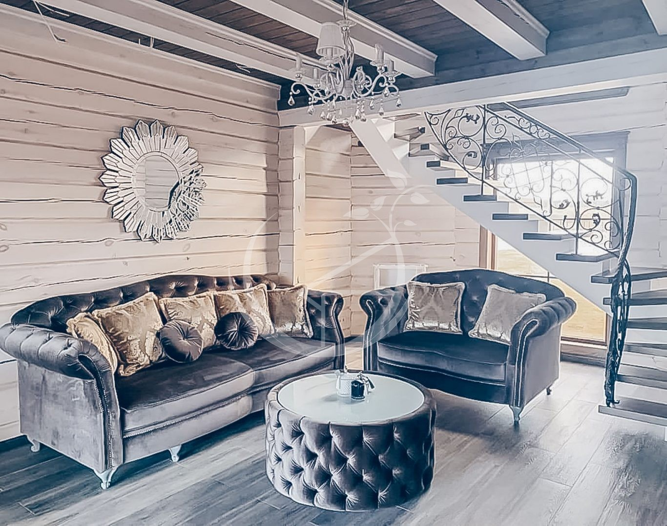 Decorating Your Log Cabin Interior Foto 1