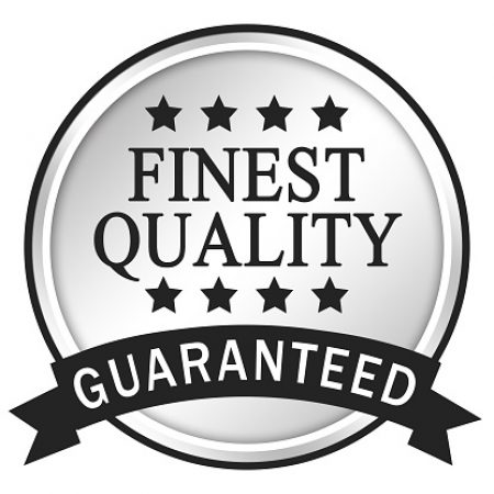 Finest Quality Guaranteed. Silver Icon Illustration.