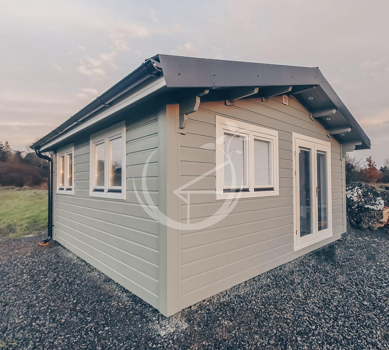 Office Log Cabin In Back Garden Ireland Foto 3