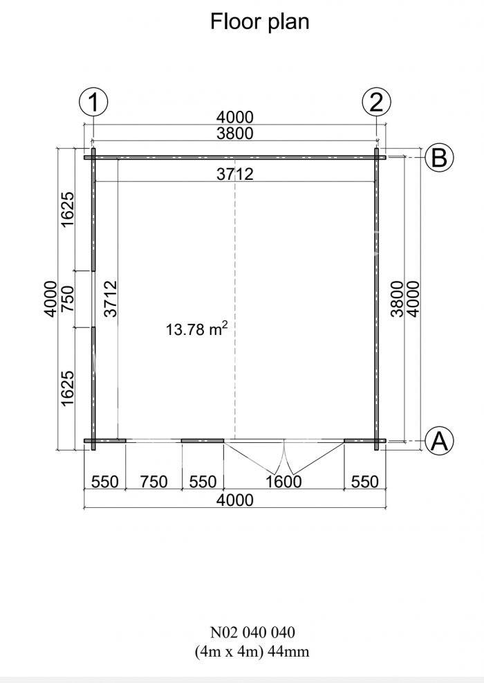 Model 2 4m X 4m Top