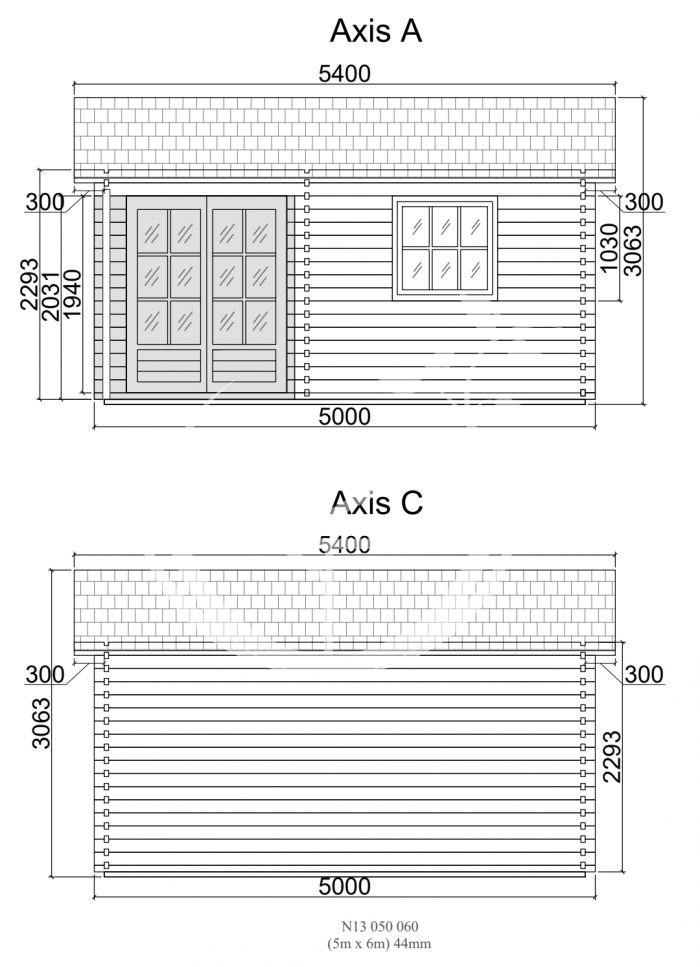 Nida 13 5x6m Front
