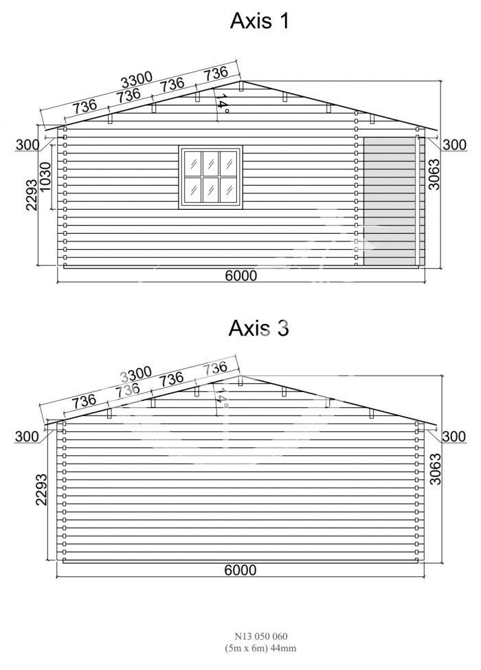 Nida 13 5x6m Sides